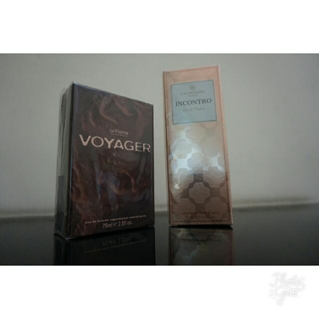 1 set Parfum Oriflame Giordani Gold Incontro Eau de Parfum & Voyager Eau De Toilette