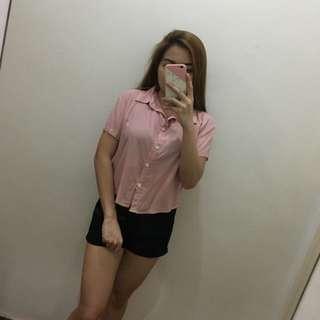 Pink Polo Croptop