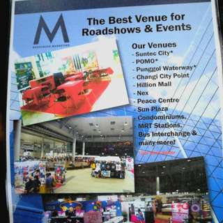 Rental Of Event Booth & Space