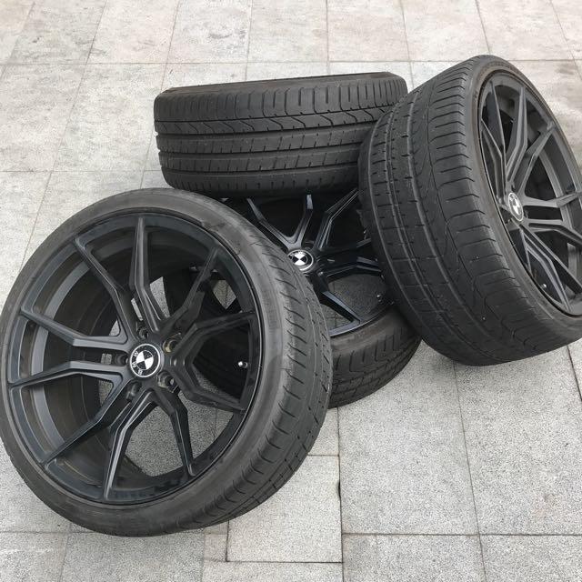 20 Matte Black Sports Rims For Bmw 5 Series F10 Car