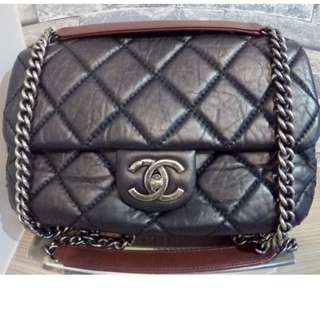 Chanel Black Easy Flip Calf Leather Shoulder Bag