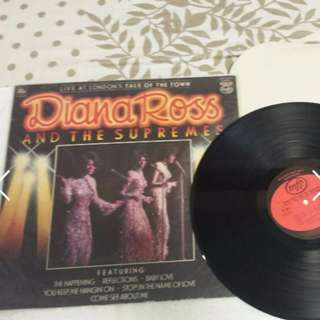Diana Ross And The Supremes - Live At London Talk Of The Town Vinyl Record LP