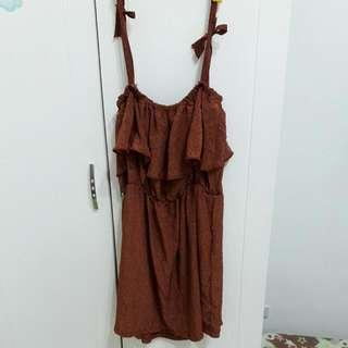 俏麗 洋裝 吊帶