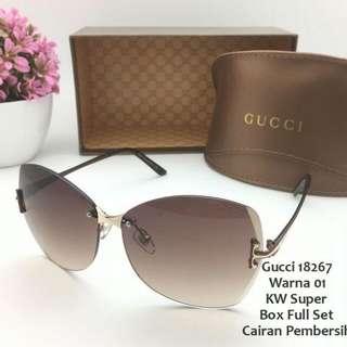 Kaca Mata Wanita Sunglasses Gucci 18267 Elegan Mewah Super