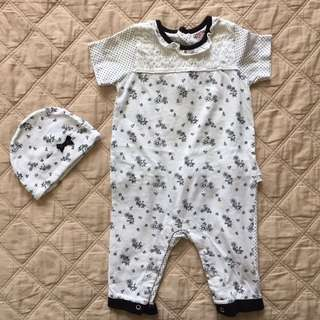 Baby Clothes - Hush Hush Onesie Bonnet Set