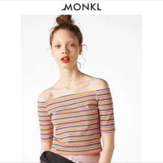 Cropped Rainbow Monki Top
