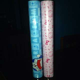 Hello Kitty And Doraemon Wall Paper