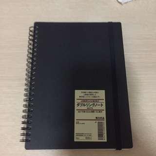 Muji A5 Black Notebook