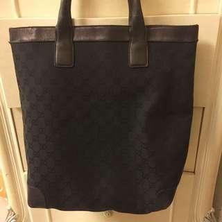 黑色真品Gucci 手挽袋