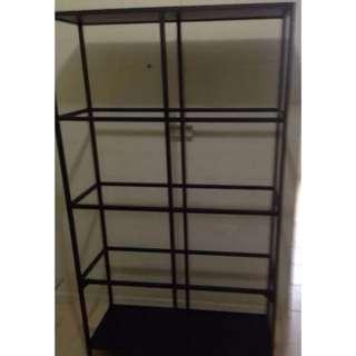 Ikea VITTSJÖ Shelving unit with glass shelves