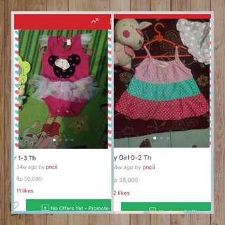 Paket Baju Lucu Anak Perempuan