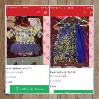 55k Dapet 2 Baju Anak Perempuan Lucu2