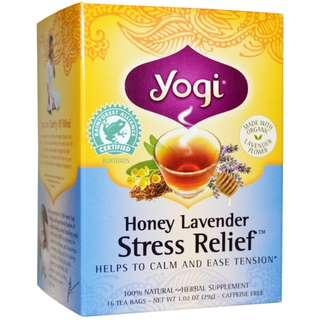 Yogi Tea, Honey Lavender Stress Relief, Caffeine Free, 16 Tea Bags, 1.02 oz (29 g)
