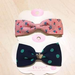 韓國 蝴蝶結 髮夾 頭飾