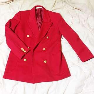 西裝外套 紅色