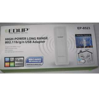 EDUP EP-8523 150Mbps Wireless Adaptor (with Long Range Antenna) design for outdoor