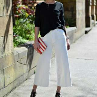 Looking For: White Structured Culottes