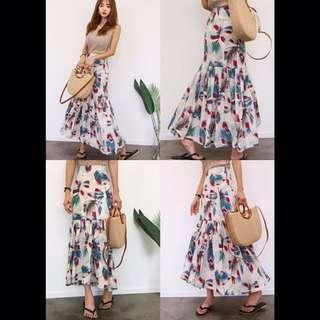 花葉造型長裙