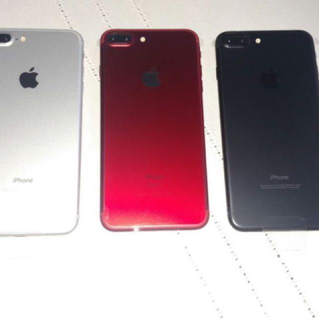 3 iPhone 7 Pluses READ DESCRIPTION