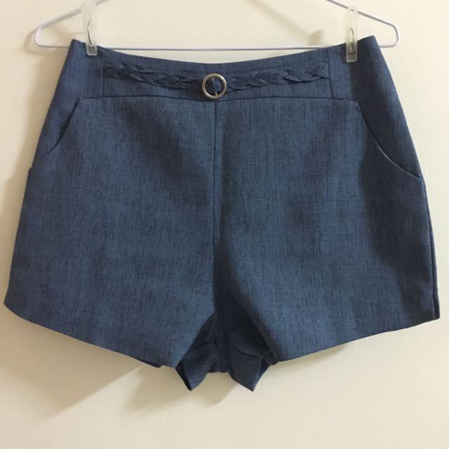 正韓深藍色短褲