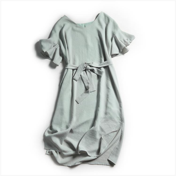 灰綠色雪紡連身裙🌳