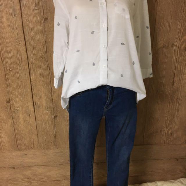韓版樹葉襯衫