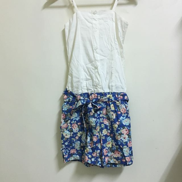 吊帶短褲洋裝