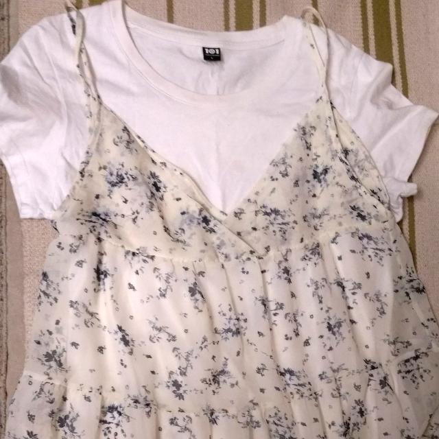原價兩萬韓幣 韓國帶回 小碎花長裙連身洋裝