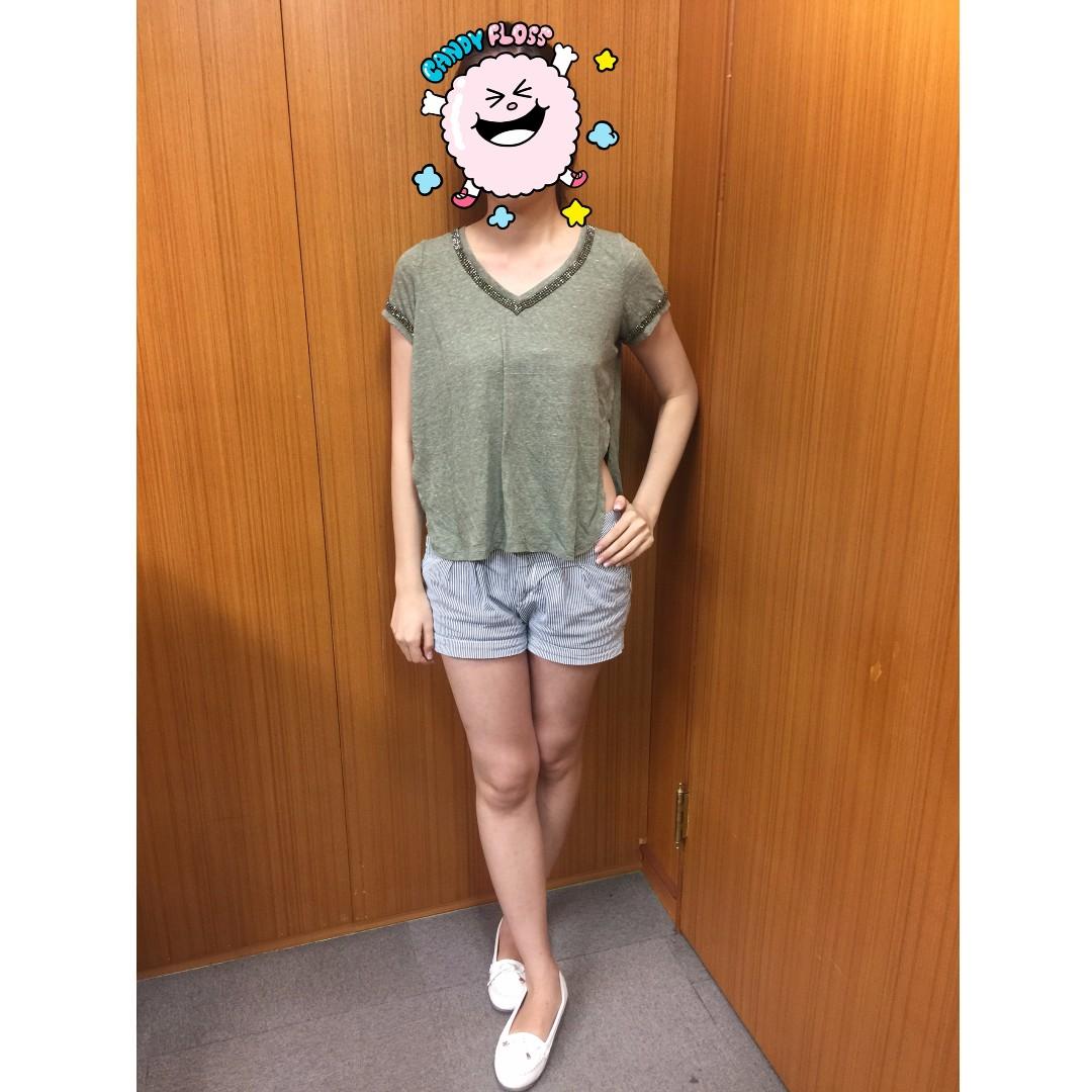 (全新) GUESS 休閒上衣 (美國尺寸XXS號 寬鬆版)