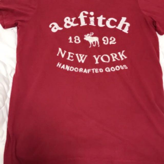 Abercrombie & Fitch經典款刺繡大麋鹿T桖男女可穿S