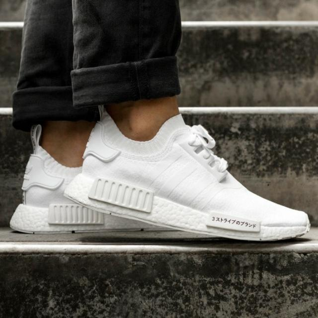 Adidas NMD R1 Japan Pack Triple White, Men's Fashion