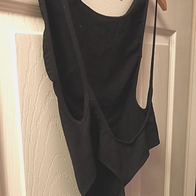 American Apparel Backless Sideless Bodysuit