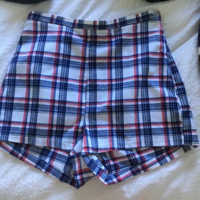 American Apparel Tartan Shorts