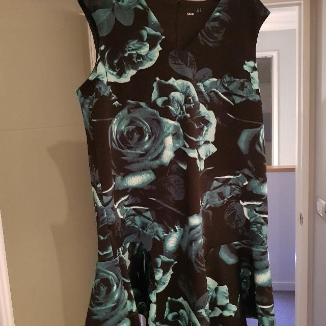 ASOS floral green dress