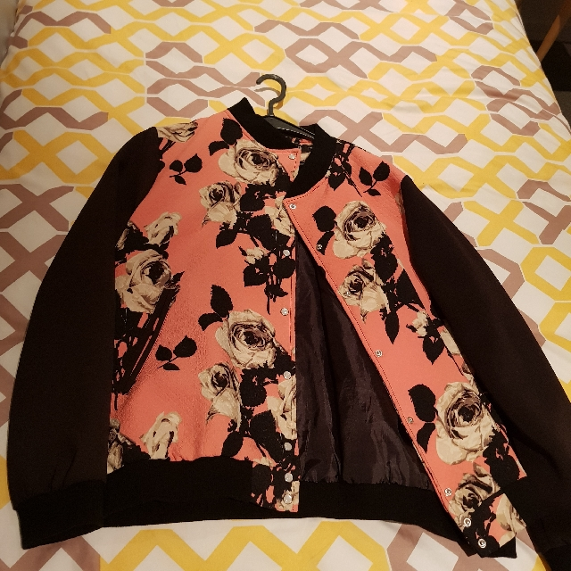 ASOS floral pink bomber jacket