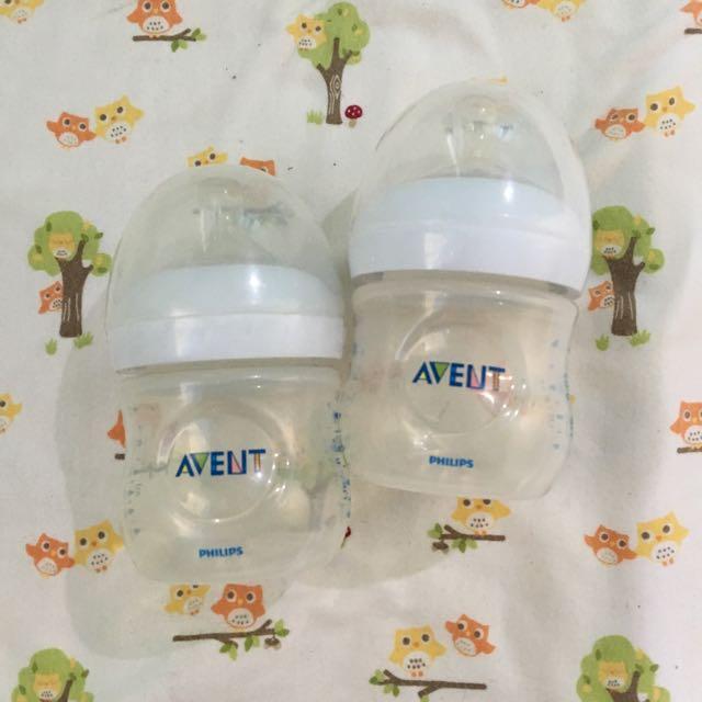 Avent Natural 4oz Feeding Bottles