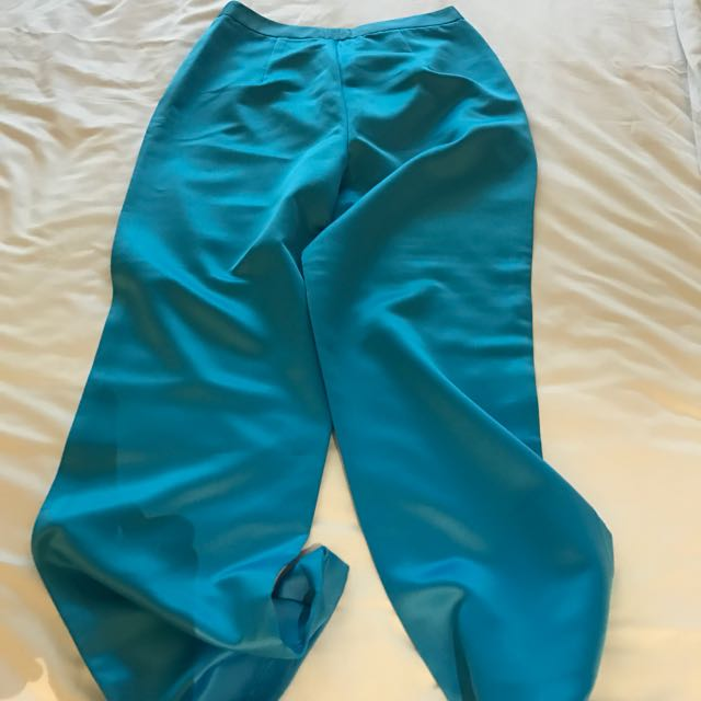 Blue Satin Pants