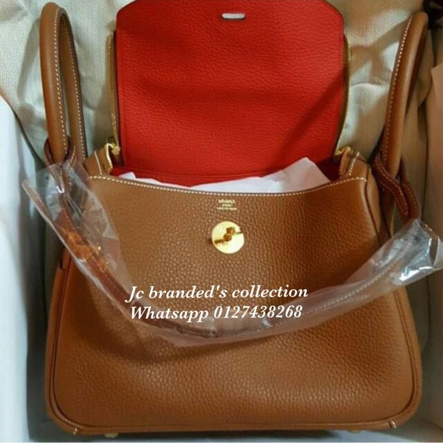 b561760bca ... italy bn.hermes lindy 26 gold rouge tomate ghw clemence stamp a luxury  bags wallets
