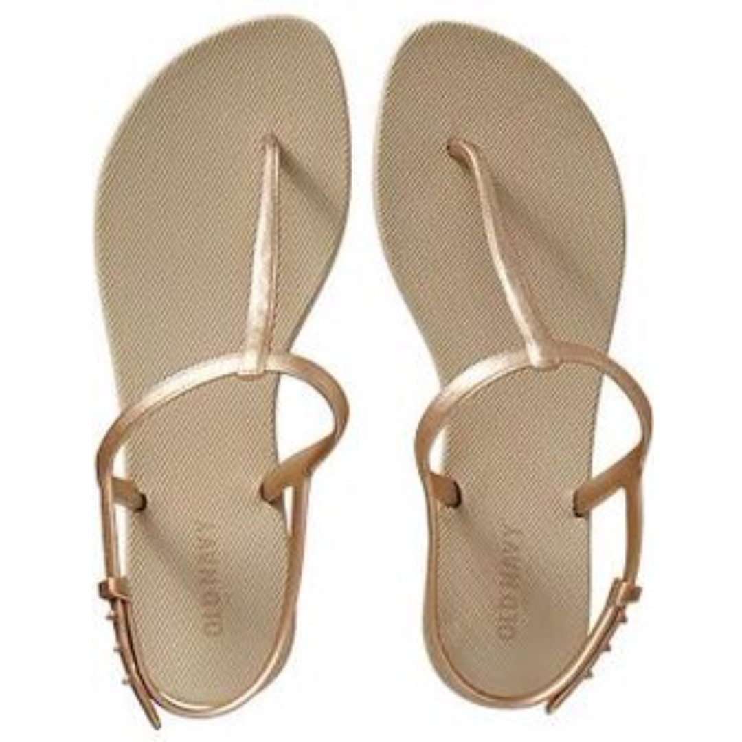 f1014bbfb08 BNWT Old Navy ON T Strap Slippers Flip Flops in Gold
