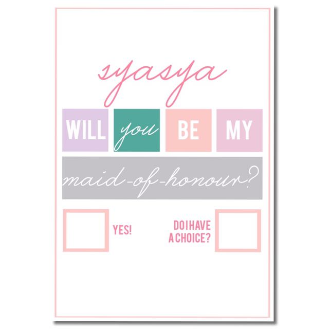 Bridesmaid Proposal Frame Art / Will You Be My Bridesmaid?, Design ...
