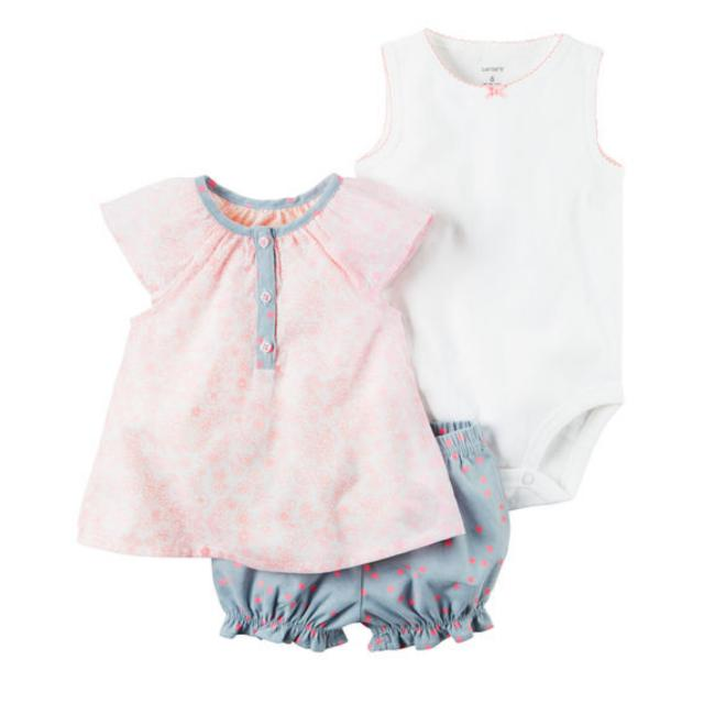 Carter S Baby Clothes Baby Girl Top Bubble Shorts Onesie Set 9m