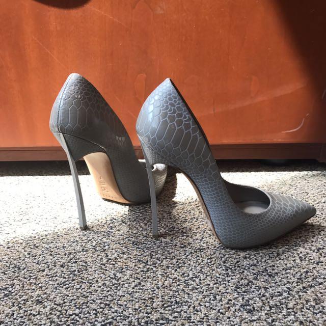 Casadei In Grey Piton Size 7