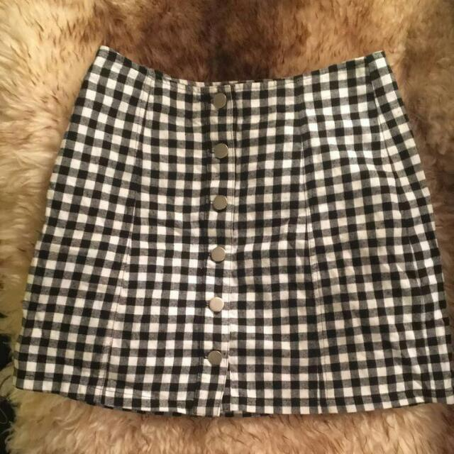Checkered Skirt Size 8