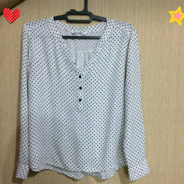 Colorbox White Polka Blouse