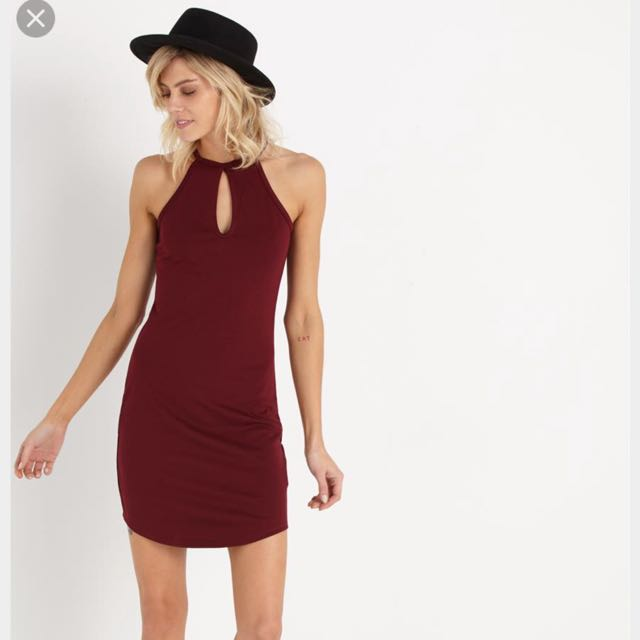 Cotton On Texas Mini Dress With Keyhole Detail