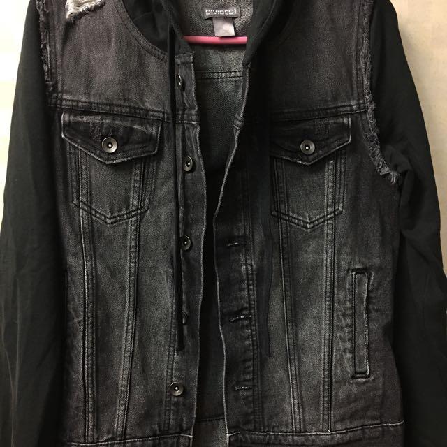 9c6c155207f4 H M Denim Jacket With Hoodie