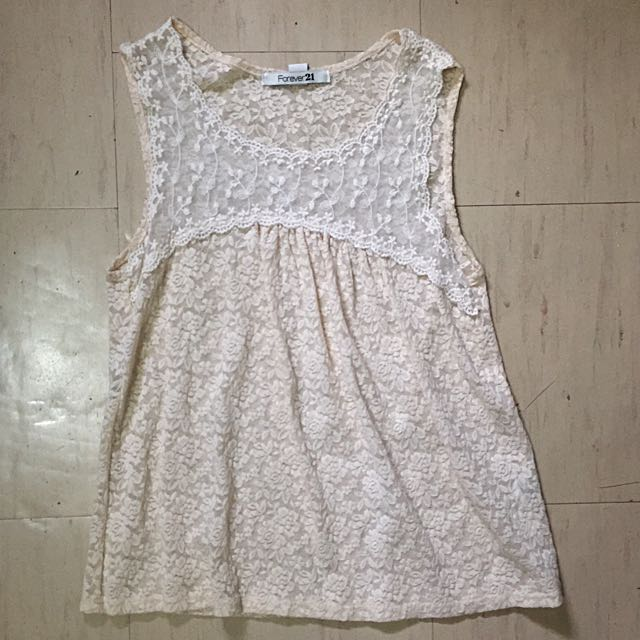 F21 Lace Babydoll Top