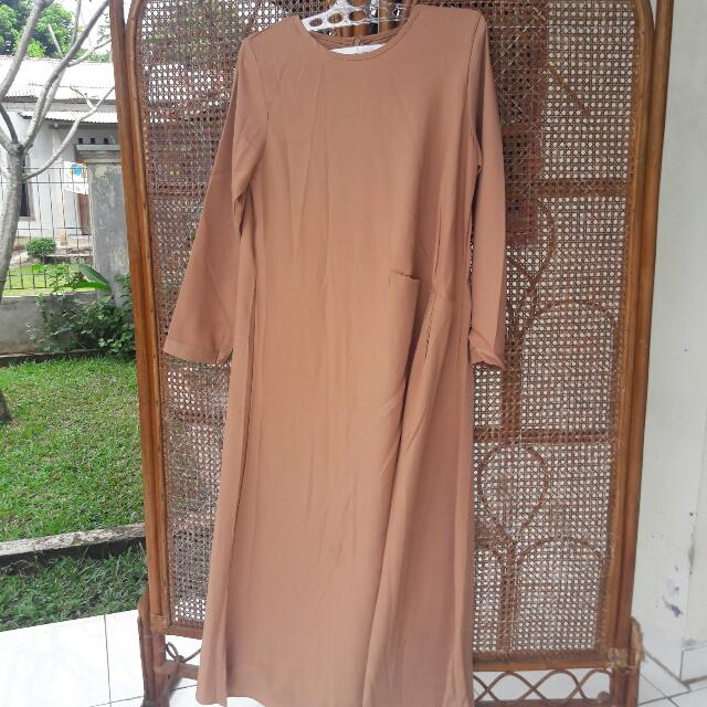 Gamis Polos Mocca