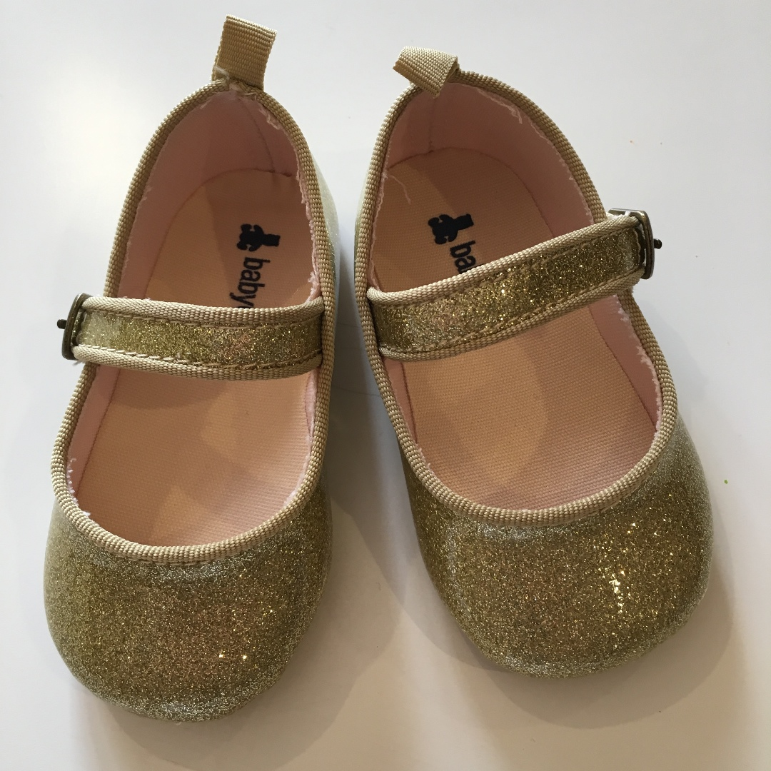 Gap Gold Glittered Mary Janes