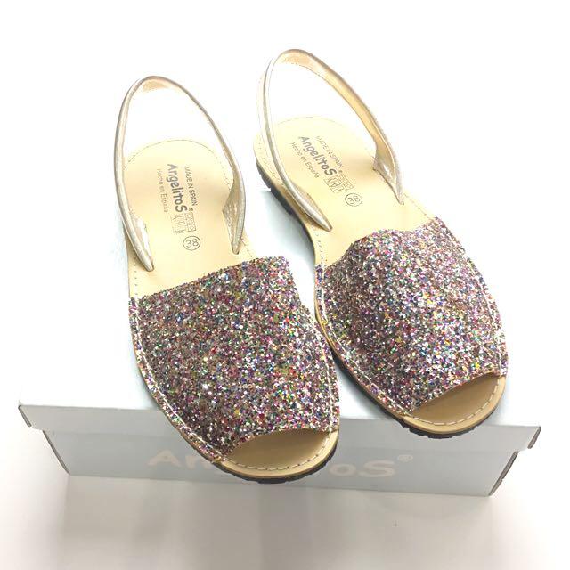 b2f341609 Glitter Sandals Shoes Angelitos Mibo Avarcas Ria Spain Spanish ...